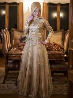 latest golden party hijab style new eid party hijab style 2017