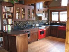 Custom Walnut Kitchen Cabinets