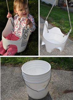 Una hamaca con un balde #Reciclado #DIY