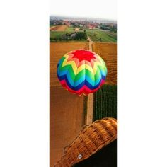 High angle view of a hot air balloon on field Metz Moselle Lorraine France Canvas Art - Panoramic Images (15 x 6)