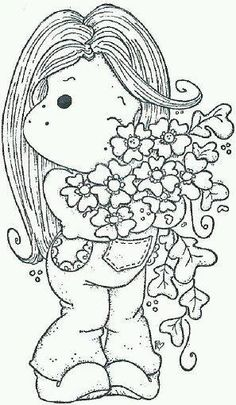 Risultati immagini per Gorjuss Santoro Stamps clipart and coloring pages Colouring Pics, Coloring Book Pages, Coloring Pages For Kids, Marker Art, Colorful Drawings, Copics, Digital Stamps, Creations, Sketches