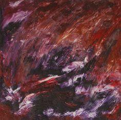 "Marian Lupu LUPINO -Email: mlupubm@yahoo.com -""Waterfallfire(Cascada de foc)-oil on canvas(1992)-35x35 cm-3000$"