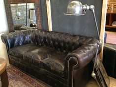 Canapé Chesterfield 2 places noir