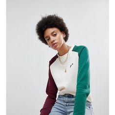 Fila Oversized Boyfriend Sweatshirt With Colourblock Sleeves (115 AUD) ❤ liked on Polyvore featuring tops, hoodies, sweatshirts, cream, polo crewneck sweatshirt, raglan sweatshirt, oversized sweatshirt, oversized crew neck sweatshirt and boyfriend sweatshirt
