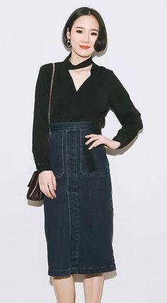 Fashiontroy Smart elegant long sleeves V-neck black neck-tie cotton blend shirt