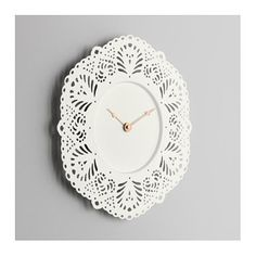 IKEA SKURAR wall clock Highly accurate at keeping time as it is fitted with a quartz movement.