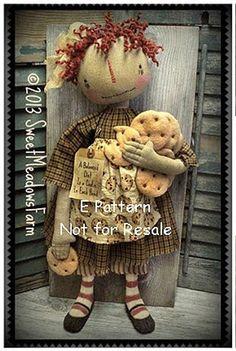 Primitive Snowmen, Primitive Crafts, Primitive Christmas, Christmas Crafts, Angel Wings Decor, Americana Crafts, Primitive Doll Patterns, Handmade Stuffed Animals, Raggedy Ann