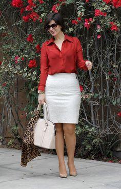 Divina Ejecutiva: Mis Looks - Detalles en Leopardo #divinaejecutiva #officeattire #workingstyle #workinglook #workinggirl #ootd #lasmorzan #zara #mng #skirt #animalprint #bananarepublic