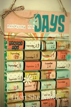 Awesome idea for DIY Advent calendar, made with the back of a cereal box and small candies wrapped in scrap paper. Ooh! You could write a good deed to be done, a hadith, ayah...on the back of the scrap paper!