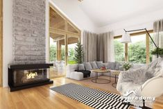 Hawana - Dobre Domy Flak & Abramowicz Small Contemporary House Plans, Dream Home Design, House Design, Home Technology, Design Case, Interior Design Living Room, Mid-century Modern, Sweet Home, Home Decor