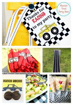 Monster truck birthday party ideas via /cre8tivedesigns//