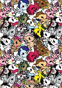 This wallpaper is awesome! Kawaii Chibi, Kawaii Cute, Cute Wallpaper Backgrounds, Cute Wallpapers, Cartoon Wallpaper, Phone Wallpapers, Desktop, Unicorns And Mermaids, Cartoon Background