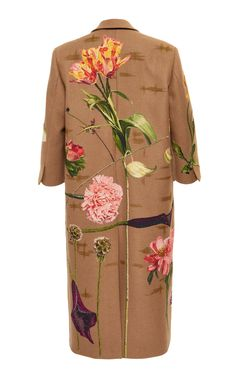 Embroidered Camelhair Coat by Valentino Vintage Outfits, Vintage Fashion, Vintage Clothing, Women's Clothing, Diy Clothes, Clothes For Women, Dedicated Follower Of Fashion, Hand Painted Fabric, Painted Clothes