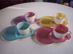 ART DECO antique MALING Tea Cup Saucer TENNIS SETS
