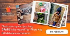 Nieuw!YourPhotoMag | Jouw foto, jouw magazine.  Een prachtig36 pagina tellend glossyA4 fotomagazine voor een super lage prijs.  Met de handige app heeleenvoudig binnen 10 minuten jouw magazine gemaakt.