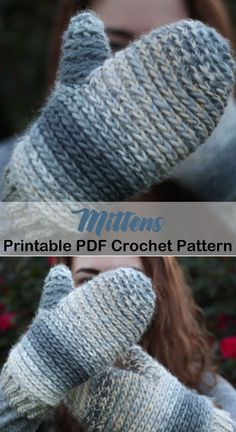Cozy Mittens Crochet Patterns Great Cozy Gift - A More Crafty Life Crochet Mittens Free Pattern, Knitting Patterns Free, Free Crochet, Knit Crochet, Crochet Patterns, Crochet Hats, Free Knitting, Crochet Ideas, Crochet Instructions