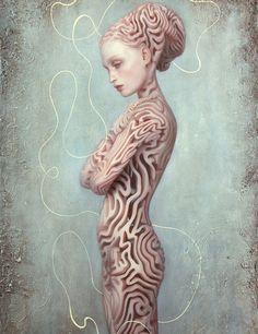Dorian Vallejo #bleaq #painting #labyrinth