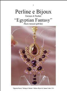 Egyptian Fantasy pendant and earrings pdf-photo-tutorial on Etsy, $10.63 AUD