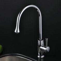 Chrome Single Handle Kitchen Faucet (T1702)