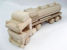 Truck With A Tank, Organic,handcrafted Wooden Toys, Eco-friendly Handmade Toys…