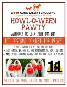 Woof Gang Bakery is having a Howl-o-ween Pawty!! Stop by on October 28th!!