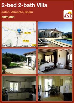 2-bed 2-bath Villa in Jalon, Alicante, Spain ►€325,000 #PropertyForSaleInSpain