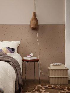 Ferm Living Dot Wallpaper - Dusty Rose
