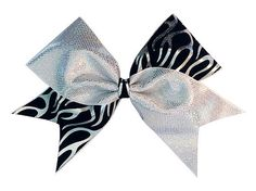 Cheerleading Hair Bow 3 inch with Metallic Flames by LuckyGirlCheerBows, $15.00