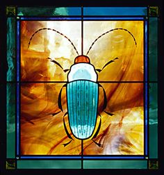 Beetle Stained Glass Window.