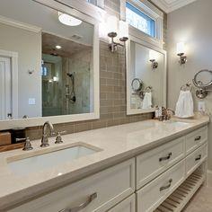 Bathroom Subway Tile Backsplash Design Ideas, Pictures, Remodel, and Decor