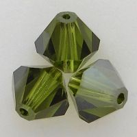Fall Color Trends Swarovski Crystal 5328 Xilion Bicone Beads Olivine Satin