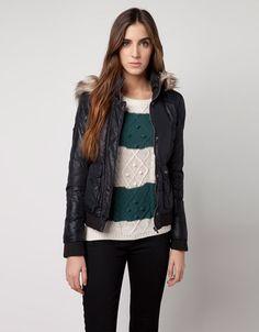 Bershka Romania - BSK fur hood jacket