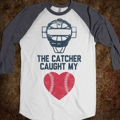 The Catcher Caught My Heart (Baseball) - Sports Fun - Skreened T-shirts, Organic Shirts, Hoodies, Kids Tees, Baby One-Pieces and Tote Bags Custom T-Shirts, Organic Shirts, Hoodies, Novelty Gifts, Kids Apparel, Baby One-Pieces | Skreened - Ethical Custom Apparel