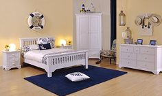 Painted White Bedroom furniture - Skye Collection