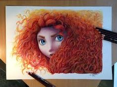 Image result for beautiful colour pencil sketches of disney princesses