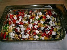 Mediterranean oven-cooked vegetables (recipe with picture) by bull girl Lacto Vegetarian Diet, Vegetarian Recipes, Healthy Recipes, Roasted Vegetable Recipes, Lentil Recipes, Oven Vegetables, Roasted Vegetables, Dinner Dishes, Main Dishes