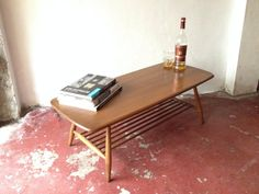 SOLD: Iconic vintage Ercol Windsor Coffee Table with desirable magazine rack. Retro/Mid-Century/Brighton