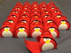 Angry Bird Party Favor Boxes/ Stampin Up Curvy Keepsake Boxes