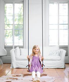an indoor swing