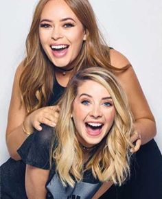 Zoe Sugg and Tanya Burr-Chapman