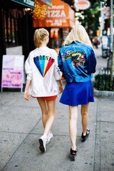 girl gang loves satin bombers | ban.do