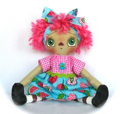 Primitive Raggedy Ann Doll via Etsy.