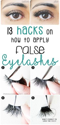Although you may assume celebrities are just blessed with the perfect, full lashes you see on their faces during red-carpet appearances, on TV shows, etc., chances are their eyes are enhanced using falsies. Sure, applying fake eyelashes can be a bit intim