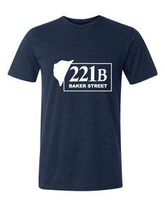 Adult 221B Baker Street Sherlock Holmes Inspired Triblend T-Shirt
