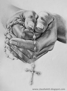 Family Tattoos, Life Tattoos, Praying Hands Drawing, Half Sleeve Tattoo Stencils, Religion Tattoos, Tattoo Lettering Design, Cross Drawing, Jesus Artwork, Heaven Tattoos
