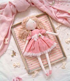 Kids Dolls, New Dolls, Little Baby Girl, Baby Girls, New Baby Gifts, Gifts For Girls, Rag Doll Tutorial, Sewing Dolls, Handmade Dolls
