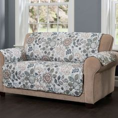 Best sofa protector cover design ideas for modern living room furniture 2019 Diy Sofa Cover, Couch Covers, Sofa Cushion Covers, Floral Sofa, Floral Furniture, Colorful Furniture, Teal Quilt, Sofa Protector, Loveseat Slipcovers
