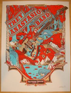 2011 Trey Anastasio Band - Denver Concert Poster by Tyler Stout at JoJo's Posters  http://www.jojosposters.com/collections/phish/products/2011-trey-anastasio-band-denver-concert-poster-by-tyler-stout