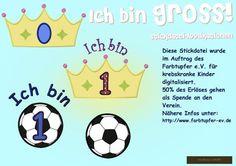 ❤ Diese Datei ist für Mädchen und Jungen  Für die Mädchen die Krone, für die Jungs der Fussball.    *❤ Vom Erlös der verkauften Dateien gehen 50% a...
