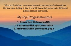 It's their words of wisdom, the women's issues they speak of in the moments of advertisity or it's just raw, telling it like it is where they are in the world. Keep it coming. 40DaysofSocial shivarea108 laurenrudick meiyanmullin